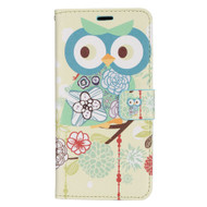 Designer Graphic Leather Wallet Stand Case for Samsung Galaxy S8 Plus - Owl