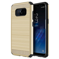 Brushed Texture Armor Anti Shock Hybrid Case for Samsung Galaxy S8 Plus - Gold