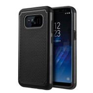 TotalDefense Hybrid Armor Case for Samsung Galaxy S8 Plus - Black