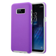 *SALE* Haptic Football Textured Anti-Slip Hybrid Armor Case for Samsung Galaxy S8 Plus - Purple