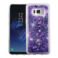 Quicksand Glitter Transparent Case for Samsung Galaxy S8 Plus - Purple