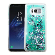 Quicksand Glitter Transparent Case for Samsung Galaxy S8 Plus - Teal Green