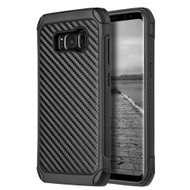 Tough Anti-Shock Hybrid Case for Samsung Galaxy S8 Plus - Carbon Fiber