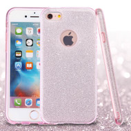 Full Glitter Hybrid Protective Case for iPhone 6 / 6S - Pink