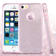 Full Glitter Hybrid Protective Case for iPhone SE / 5S / 5 - Pink