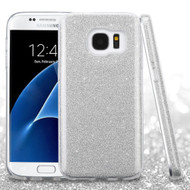 Full Glitter Hybrid Protective Case for Samsung Galaxy S7 - Silver