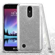 Full Glitter Hybrid Protective Case for LG K20 Plus / K20 V / K10 (2017) / Harmony - Silver