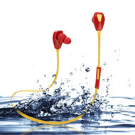 *SALE* Sweatproof Sport Bluetooth V4.1 Wireless Headphones with Microphone - Red Yellow