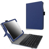Leather Kickstand Case with Removable Bluetooth Wireless Keyboard for iPad Pro 9.7 inch - Blue