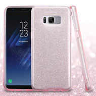 Full Glitter Hybrid Protective Case for Samsung Galaxy S8 Plus - Pink