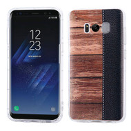 Shockproof Crystal TPU Case for Samsung Galaxy S8 Plus - Wood Grain