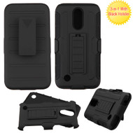 Robust Armor Stand Protector Cover with Holster for LG K20 Plus / K20 V / K10 (2017) / Harmony - Black