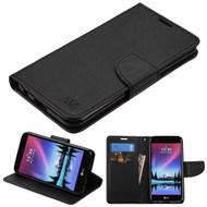 Diary Leather Wallet Case for LG K20 Plus / K20 V / K10 (2017) / Harmony - Black