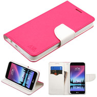 *Sale* Diary Leather Wallet Case for LG K20 Plus / K20 V / K10 (2017) / Harmony - Hot Pink