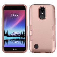 Military Grade Certified TUFF Hybrid Armor Case for LG K20 Plus / K20 V / K10 (2017) / Harmony - Rose Gold