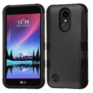 Military Grade Certified TUFF Hybrid Armor Case for LG K20 Plus / K20 V / K10 (2017) / Harmony - Black