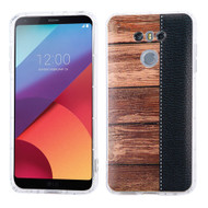 Shockproof Crystal TPU Case for LG G6 - Wood Grain