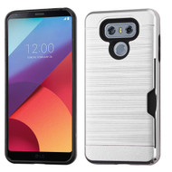 *SALE* Card To Go Hybrid Case for LG G6 - Silver