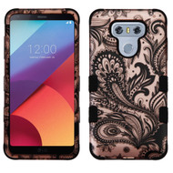 Military Grade Certified TUFF Image Hybrid Armor Case for LG G6 - Phoenix Flower Rose Gold
