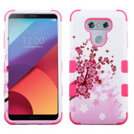 Military Grade Certified TUFF Image Hybrid Armor Case for LG G6 - Spring Flowers