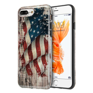Graphic Rubberized Protective Gel Case for iPhone 8 Plus / 7 Plus - Glory USA