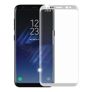 3D Curved Full Coverage Premium HD Tempered Glass Screen Protector for Samsung Galaxy S8 - Silver