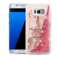 Quicksand Glitter Transparent Case for Samsung Galaxy S8 Plus - Eiffel Tower
