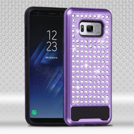 Luxury Bling Diamond Hybrid Case for Samsung Galaxy S8 - Purple
