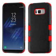 Military Grade Certified TUFF Hybrid Armor Case for Samsung Galaxy S8 - Black Red