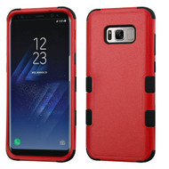 Military Grade Certified TUFF Hybrid Armor Case for Samsung Galaxy S8 - Red