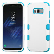 Military Grade Certified TUFF Hybrid Armor Case for Samsung Galaxy S8 - White Teal