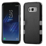 Military Grade Certified TUFF Hybrid Armor Case for Samsung Galaxy S8 - Black Grey