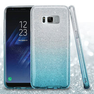 Full Glitter Hybrid Protective Case for Samsung Galaxy S8 Plus - Gradient Blue