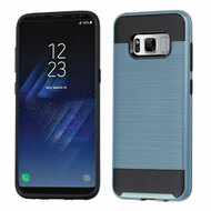Brushed Hybrid Armor Case for Samsung Galaxy S8 Plus - Ink Blue