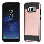 Brushed Hybrid Armor Case for Samsung Galaxy S8 Plus - Rose Gold