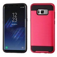 Brushed Hybrid Armor Case for Samsung Galaxy S8 Plus - Red