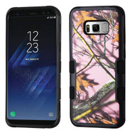 Military Grade Certified TUFF Image Hybrid Armor Case for Samsung Galaxy S8 Plus - Pink Oak Camouflage