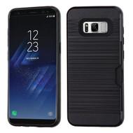 Card To Go Hybrid Case for Samsung Galaxy S8 Plus - Black