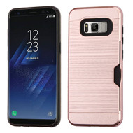 Card To Go Hybrid Case for Samsung Galaxy S8 Plus - Rose Gold