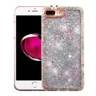 *SALE* Luxury Bling Diamond Quicksand Glitter Transparent Case for iPhone 7 Plus - Silver
