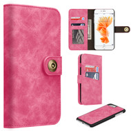 *SALE* Luxury Coach Lite Series Leather Wallet with Removable Magnet Case for iPhone 8 / 7 - Hot Pink