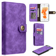 *SALE* Luxury Coach Lite Series Leather Wallet with Removable Magnet Case for iPhone 8 / 7 - Purple