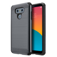 Brushed Texture Armor Anti Shock Hybrid Case for LG G6 - Black