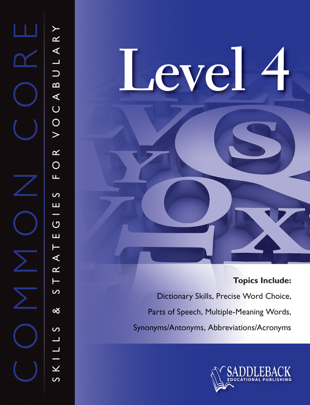 Common Core Skills & Strategies for Vocabulary Level 4 (Digital Download)