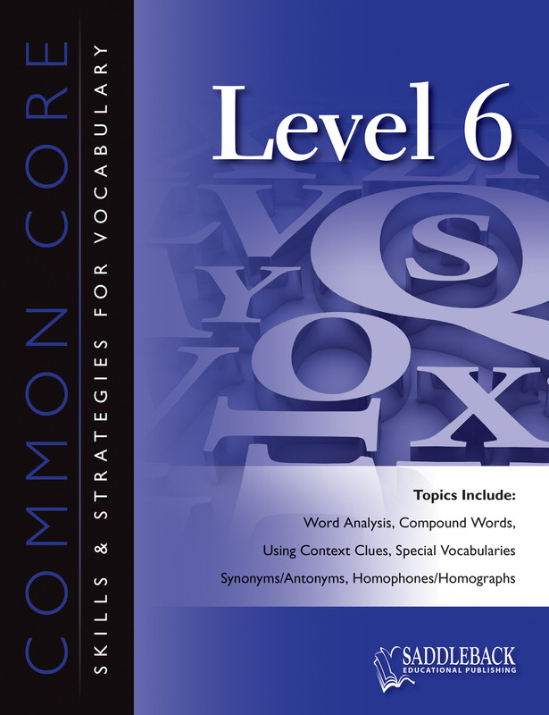 Common Core Skills & Strategies for Vocabulary Level 6 (Digital Download)