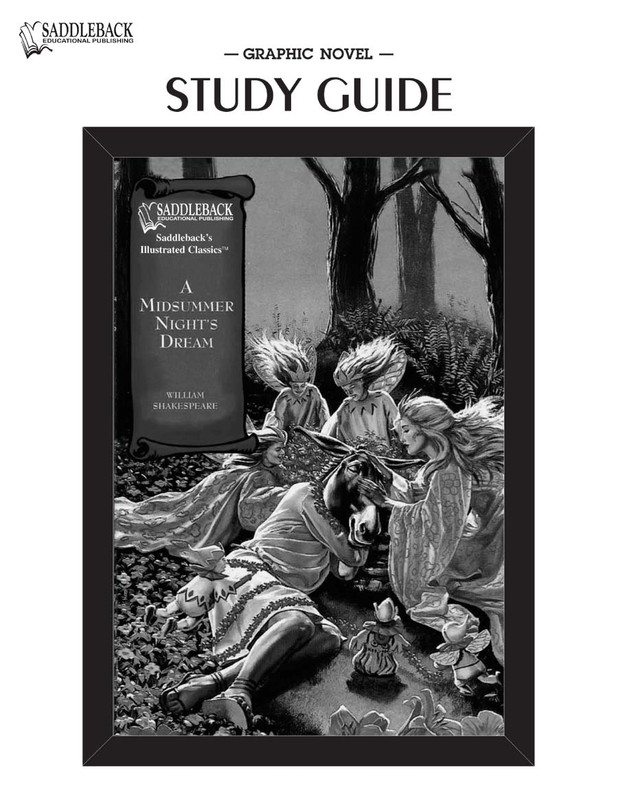 Midsummer Night's Dream Graphic Novel Study Guide (Digital Download)