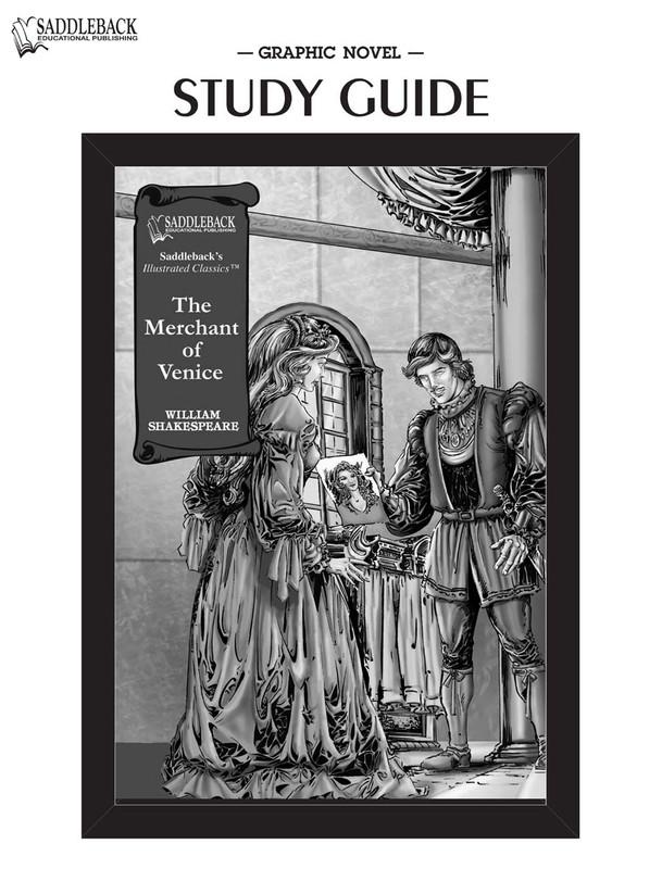 Merchant of Venice Graphic Novel Study Guide (Digital Download)