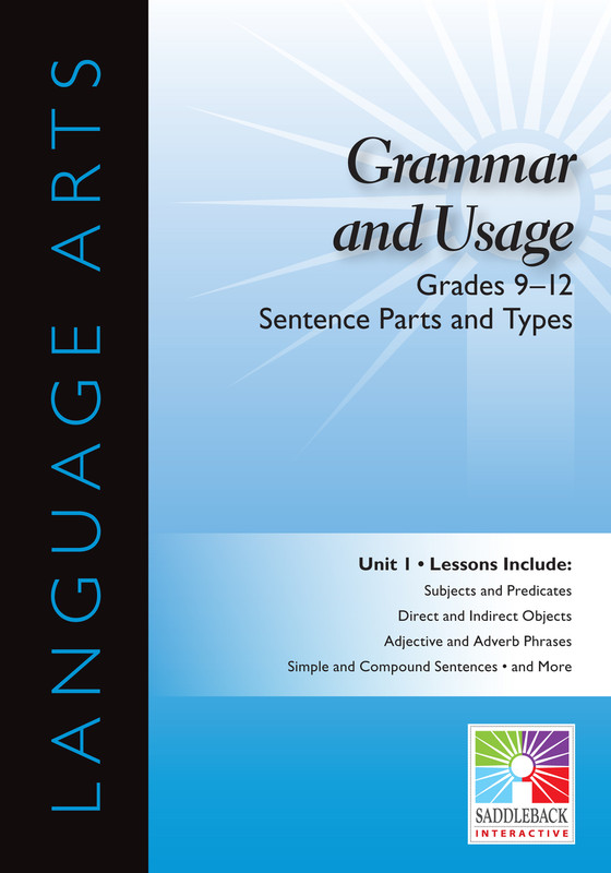 Sentence Parts and Types- Grades 9-12 (Digital Download)