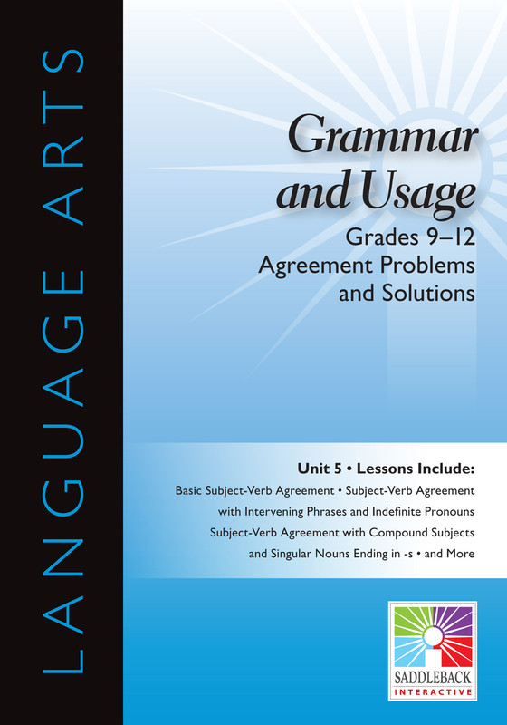 Agreement Problems and Solutions- Grades 9-12 (Digital Download)