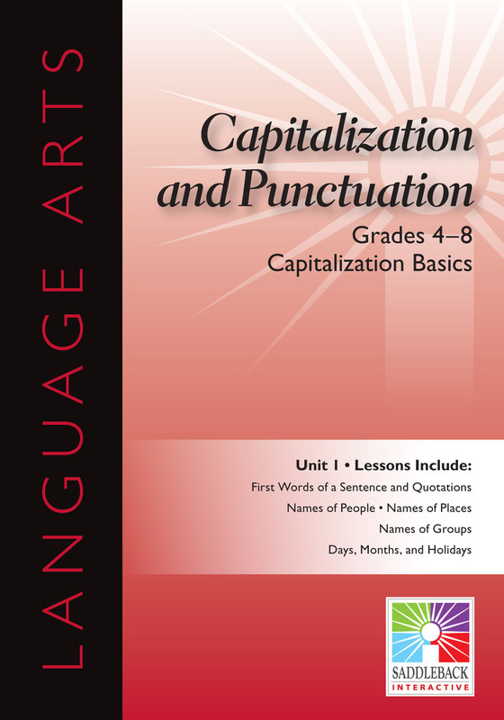Capitalization Basics- Grades 4-8 (Digital Download)